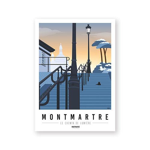 Affiche Montmartre mon coeur Chemin de Lumière