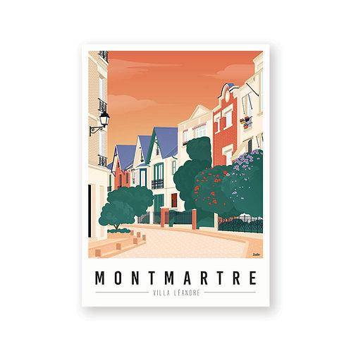Affiche Montmartre mon coeur Villa Leandre