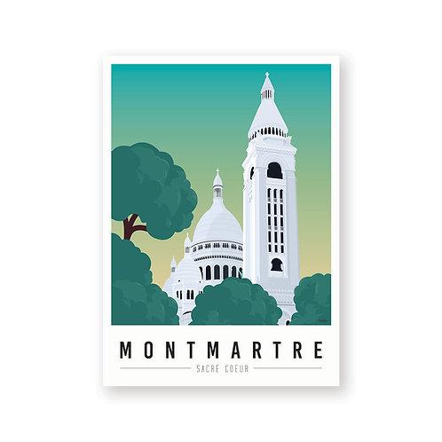 Affiche Montmartre mon coeur Sacré Coeur