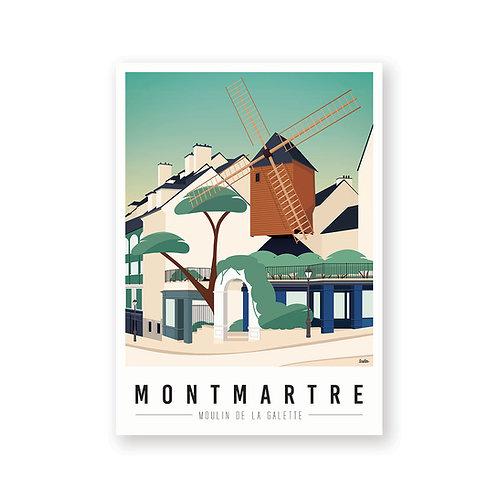 Affiche Montmartre mon coeur Moulin de la Galette