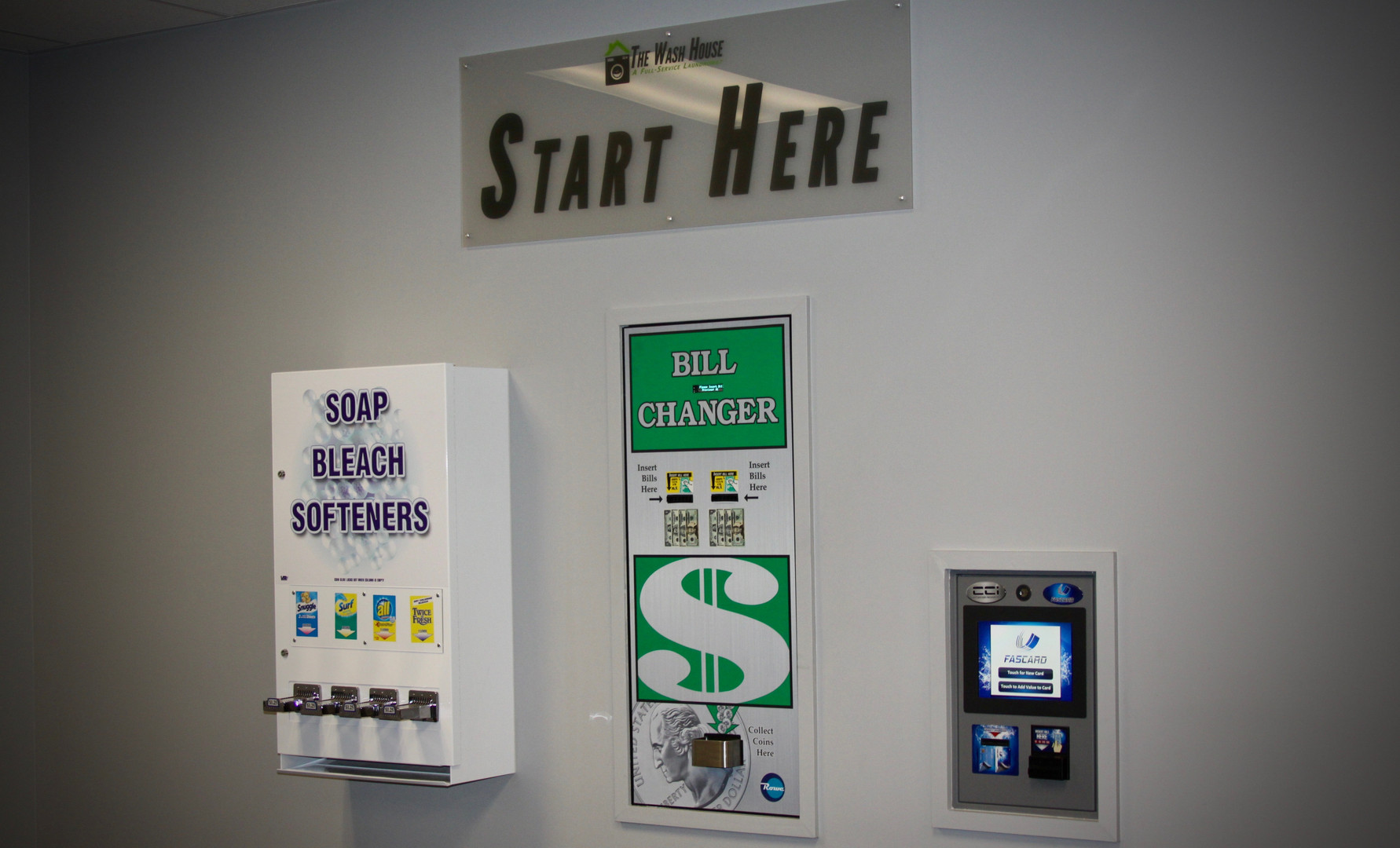 Fascard, Change Machine and Soap Dispenser