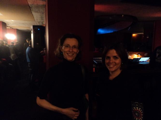 Con la flautista Sylvie Lacroix