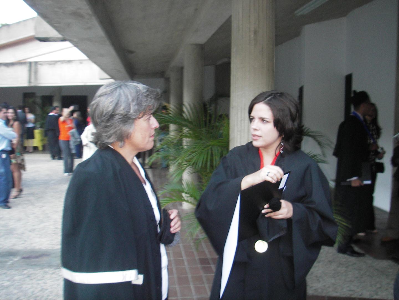 Con la compositora Adina Izarra  Universidad Simón Bolívar  Caracas, Venezuela (2006)