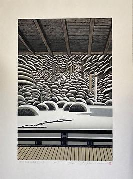 Portland Japanese Garden In the Snow