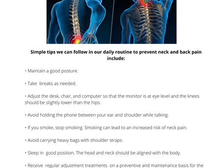 Tips to avoid neck and back pain