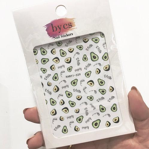 ByCS Avocado Nail Sticker