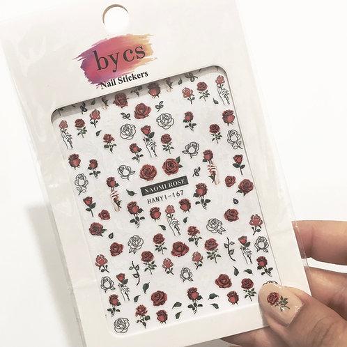 ByCS Roses Nail Sticker