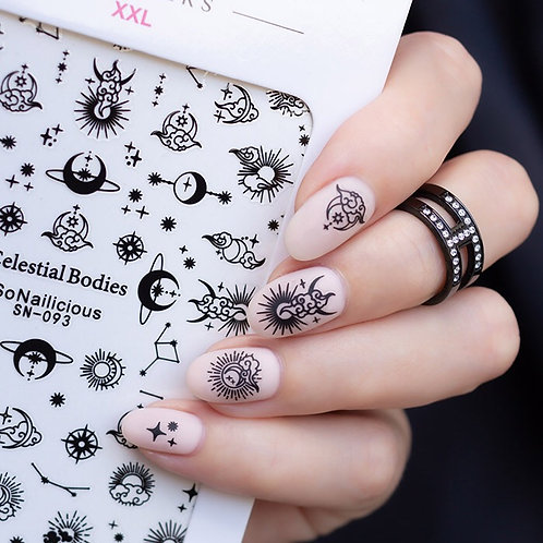 SN Celestial Bodies Nail Stickers