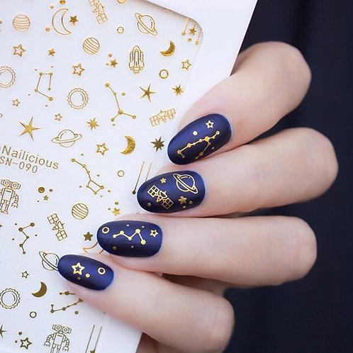 SN Interstellar Nail Stickers