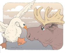 Would a Goose Kiss a Moose?