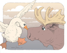 Would a Goose Kiss a Moose?