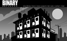 Binary Art House, home page
