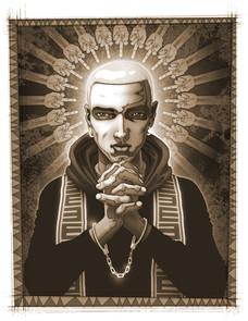 """Eminem, book illustration """"The Pervert Pope"""""""