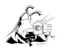 The Tick drinks Young Mugs Coffee