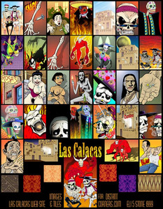 Las Calacas, interactive game images