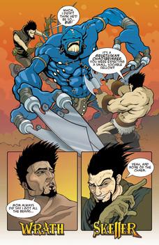 Wrath & Skeller, promotional comic, p.1