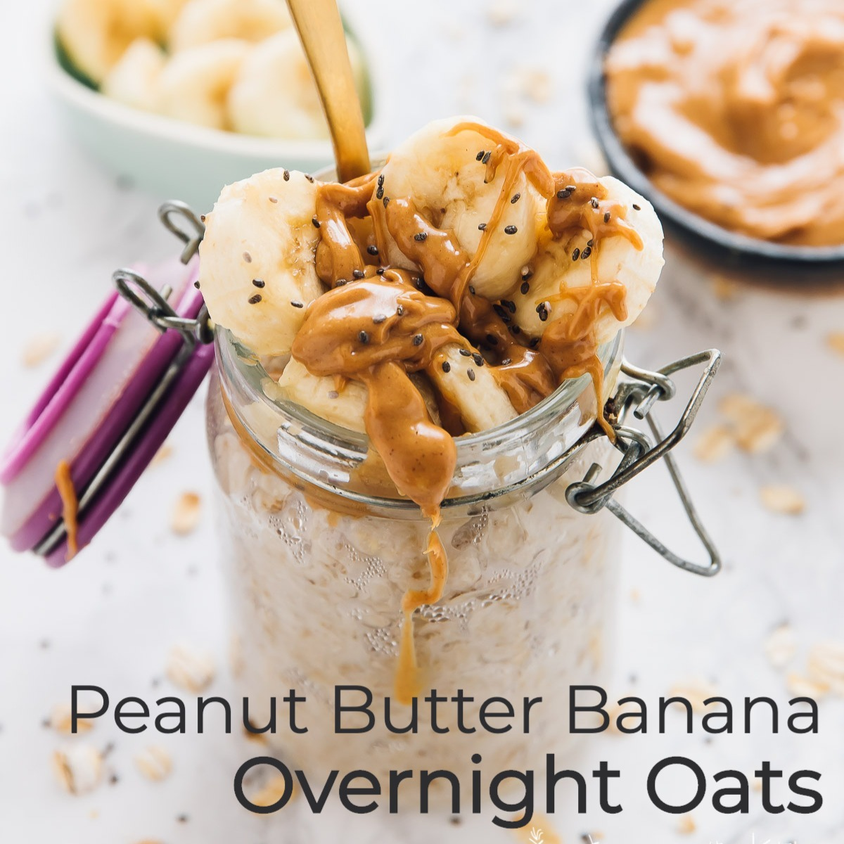 PB Banana Overnight Oats