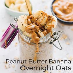PB Banana Overnight Oats