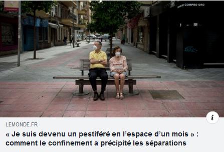 """Dans """"Le Monde"""", mon interview sur les ruptures post-confinement"""
