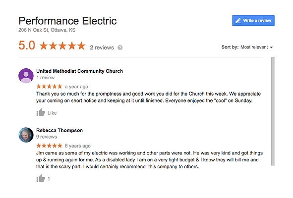 Electrical positive review