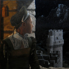 girl in castle painting stage