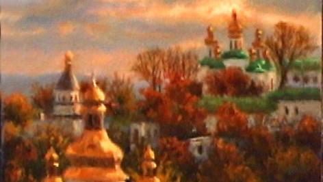 """Kiev Sunset"" mini oil"