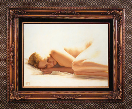 framed oil painting photography