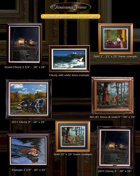 framed art catalog photography