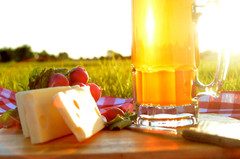 cheese with beer
