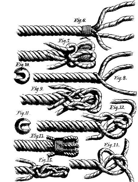 1871 illustration rope splices