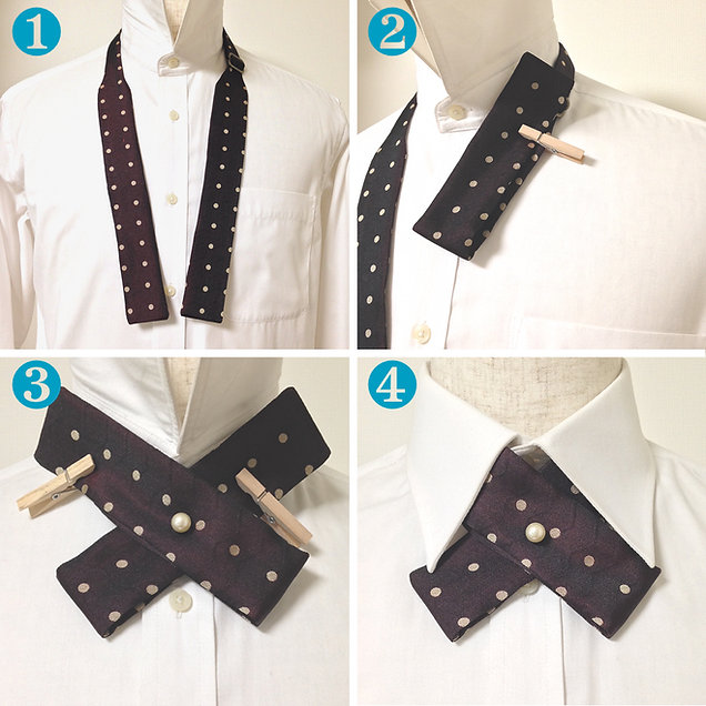 how to wear,Crossover,Tie,bow tie