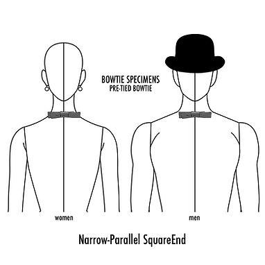 ナロー,パラレル,スクエアエンド,蝶ネクタイ,種類,ブランド,bow tie,history,pattern