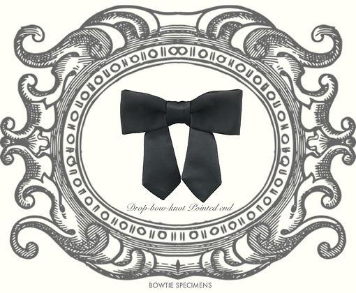 ドロップボウ,垂らし結び,ポインテッド,エンド,蝶ネクタイ,ボウタイ,ブランド,標本,通販,bow tie,specimens,types,brand,japan