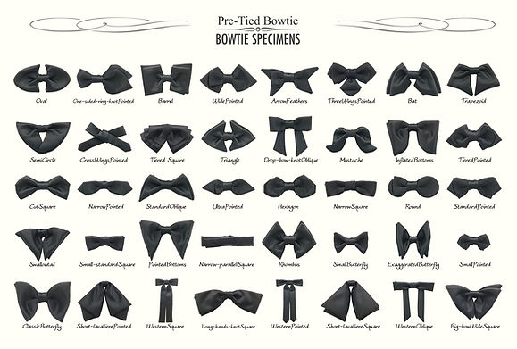 bowtie,Pre tied bow ties,BOWTIE SPECIMENS,type,history