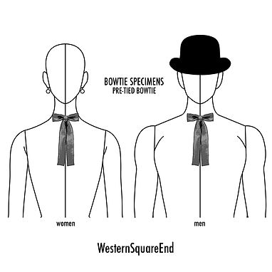 ウエスタン,スクエアエンド,蝶ネクタイ,種類,ブランド,bow tie,history,pattern
