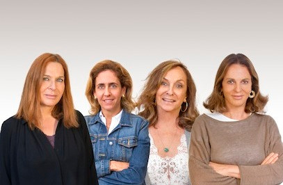 A partir da esq.: Doris Bicudo, Lygia da Veiga Pereira, Silvana Tinelli e Sonia Racy