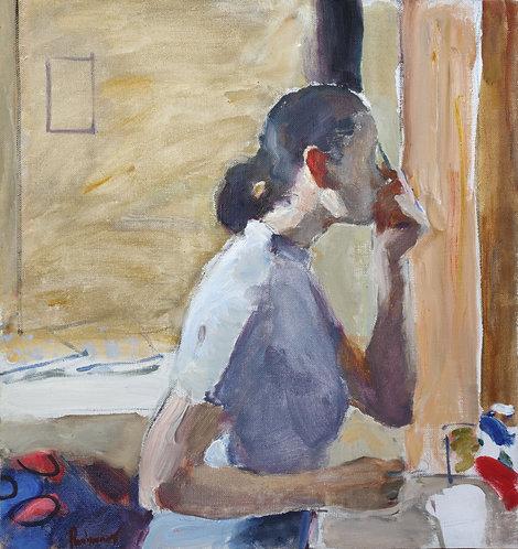 Woman In Front of a Mirror by SAMIR RAKHMANOV