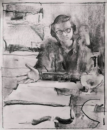 Drawing selfportrait-2020-graphite-paper