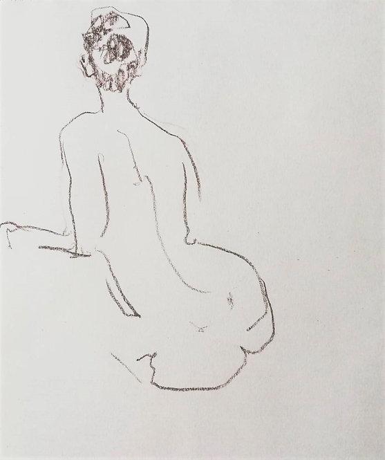 Nude Sketch No.3 by YAROSLAVA TICHSHENKO