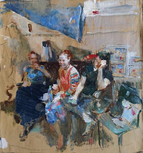 """Sketch """"Friends"""" No.2 by YURIY USHAKOV"""