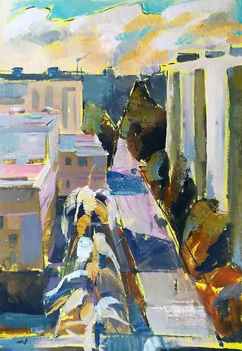 Nikol Klampert_Window View #2_Oil on Can