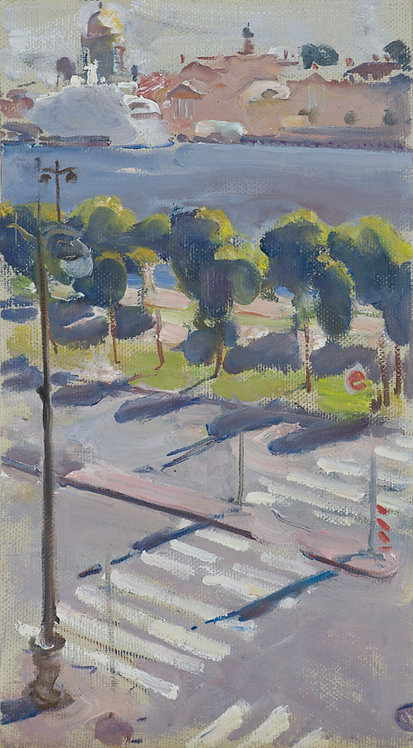 View From the Window on the English Embankment by YURIY USHAKOV