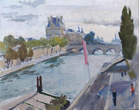 Seine. Morning by SAMIR RAKHMANOV