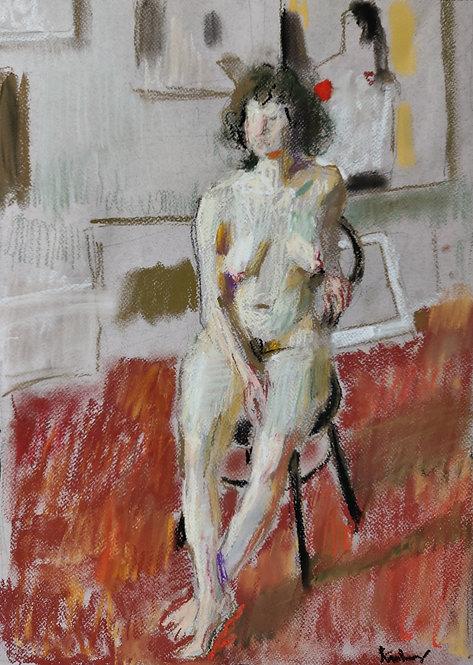 Female Nude in the Studio by SAMIR RAKHMANOV