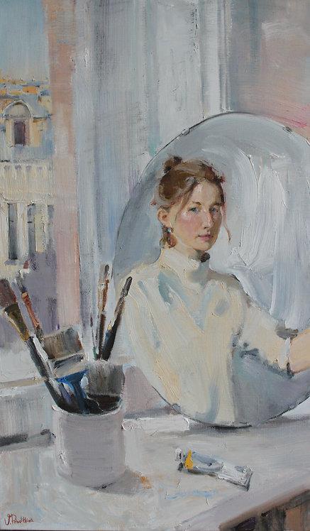 Self-Portrait in the Studio by VALERIA PRIVALIKHINA