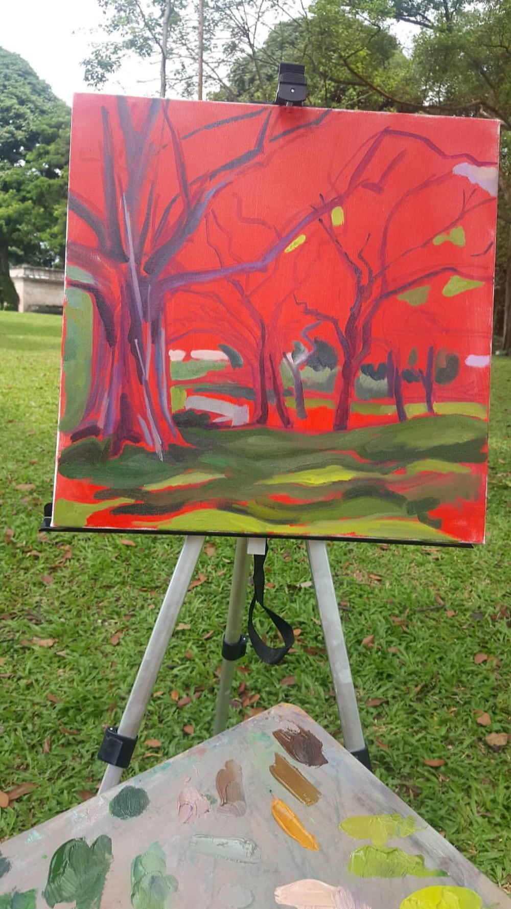 Marie Pol Dream Garden Oil painting Singapore