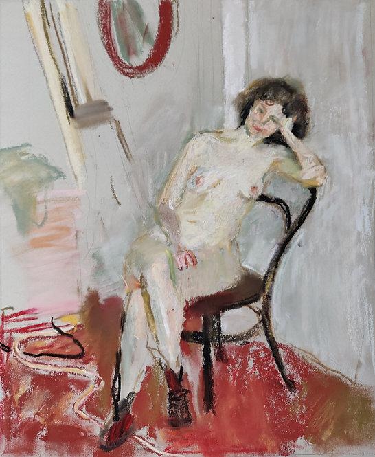 Nude Model Sitting by SAMIR RAKHMANOV