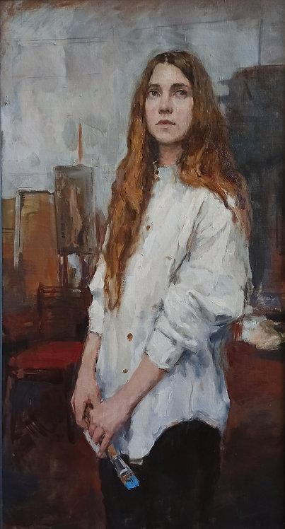 Stasya in the Studio by ANDREW PIANKOVSKI