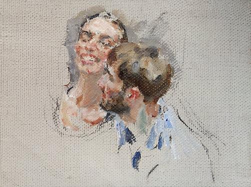 """Sketch """"Friends"""" No.1 by YURIY USHAKOV"""