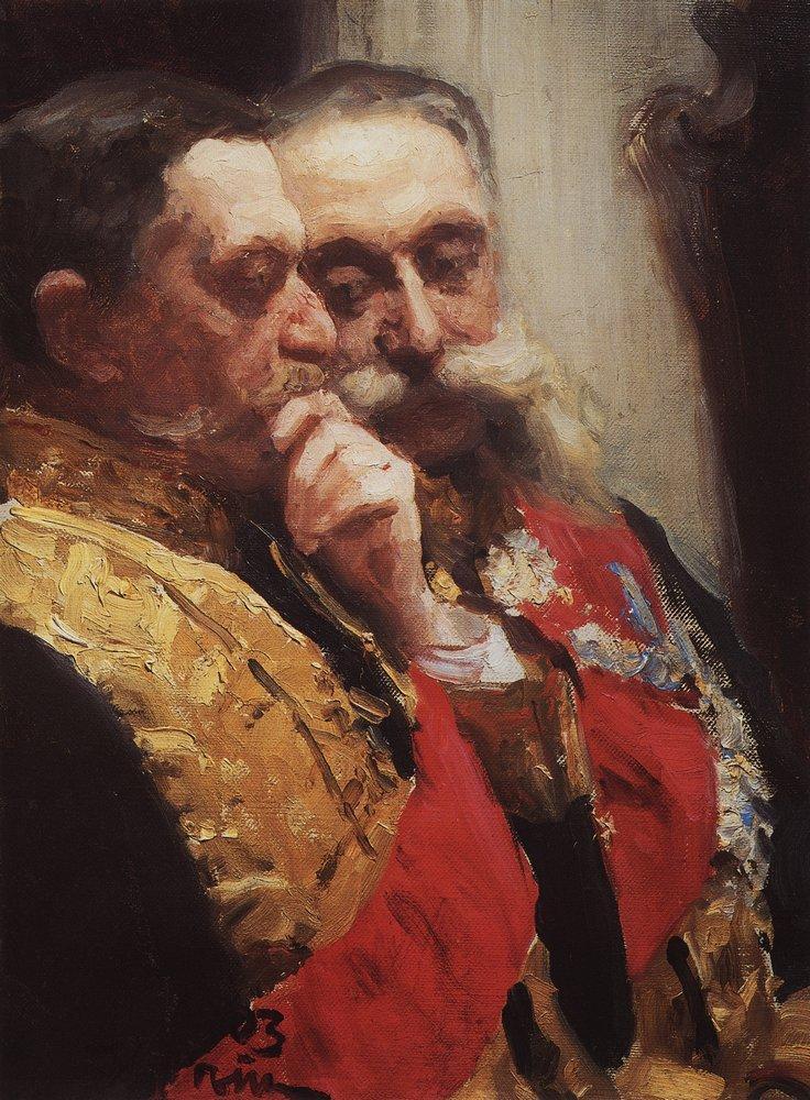 ilya repin goremykin gerard marie pol russian museum oil painting